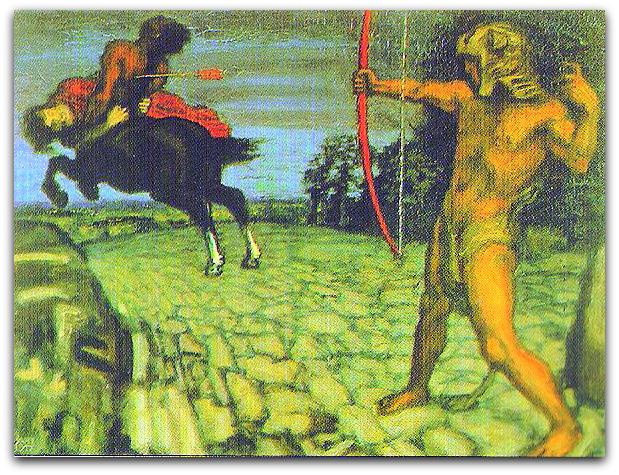 Геракл убивает Несса